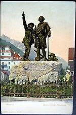 FRANCE ~ 1900's CHAMONIX ~ MONUMENT DE SAUSSURE ~ HOTEL ANGLETERRE
