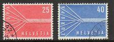 Switzerland 1957 Europa fine used set stamps