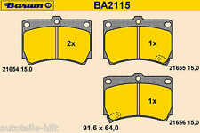 Beläge neu BARUM KIA RIO MAZDA 121 II 323 C F P S DEMIO DC DB BG BA DW 1.3 1.5
