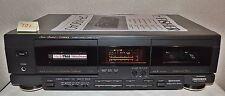 DEFEKTE Doppelkassettendeck Fisher CR-W9040 in schwarz mit Kabel, optisch Top