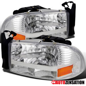 For Dodge 1997-2004 Dakota 1998-2003 Durango Clear Headlights Bumper Signal Lamp