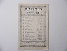 Vintage Sheet Music  Chappell's  Vocal Library - Ma Curly Headed Babby - Duet