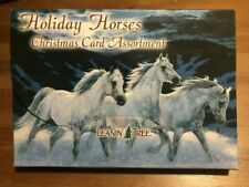 Leanin Tree Holiday Horses Christmas 20 Cards Box Envelopes,10 different designs