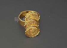 Yüzük 22 Ayar Altin Kaplama Ceyrek Gold Coins Ring Gold Ring Gelin Dügün Henna