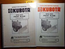 Kubota B2030 Front Blade B6100 B6200 B7100 B7200 Operator Service Parts Manual