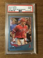 2013 Topps AL ROY Walmart Blue Border Mike Trout #338 LA Angels PSA 9 GOAT HOF