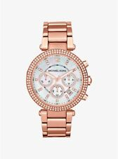 MICHAEL KORS PARKER ROSE GOLD-TONE WATCH STYLE# MK5491   $276