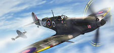 Spitfire 30x14 Inch Canvas - WW2 Framed Picture Poster Print Artwork