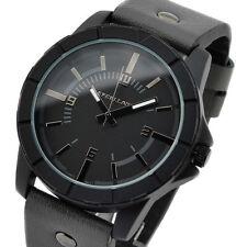 Armbanduhr Uhr Schwarz  Männeruhr Herrenuhr Watch neu Lederimitatband