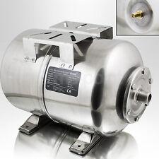Membrankessel 24L Edelstahl für Hauswasserwerk Druckkessel mit Ventil Wasser NEU