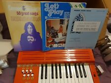 More details for vintage retro orange magnus chord organ musical instrument music/song books