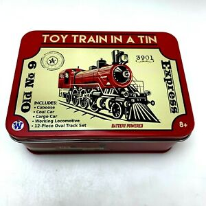 Westminster Toy Train in a Tin | Old No 9 Express 3901 w/ Tracks Battery Powered