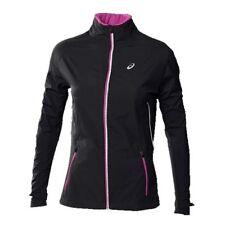 Asics SPEED GORE Womens Zipper Front Wind Stopper Jacket Size XS Black NEW