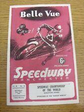 12/06/1965 SPEEDWAY programma: a BELLE VUE-Speedway CAMPIONATO DEL MONDO