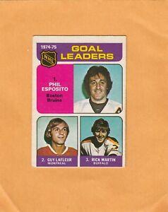 1975-76   O PEE CHEE  ESPOSITO-LAFLEUR-MARTIN LL NO:208 Ex cond+   a