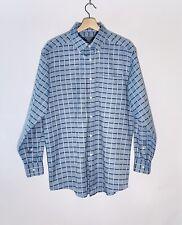 Talbots Plaid Long Sleeve Button Down Men's Dress Shirt Size Medium