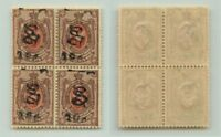 Armenia 🇦🇲 1919 SC 152B MNH block of 4 . e7804