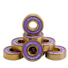 8pc ABEC-11 608 2RS Skateboard Bearings Fancy Fish Banana Board Longboard Purple