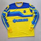 Vintage Style Mesh Motocross Jersey Suzuki Retro MX Cool !!