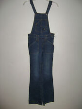 LEVIS WOMEN JEANS OVERALLS SUPER LOW size 0 JR M DEMIN BLUE COTTON  STUNNING