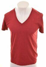 G-STAR Mens T-Shirt Top Small Maroon Cotton  ML08