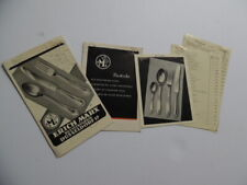 1952 Erich Marx German Cutlery Silverware Pattern Brochure Lot Vintage Original