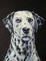Watercolor Painting Dalmatian Breed Dog Home Pet Portrait ACEO Art