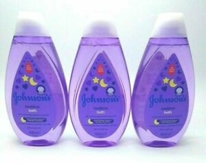 JOHNSOn'S Bedtime Bath 500ml Gently Cleanses no more tears everyday cleansing x3