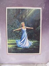 Mishell Swartwout Fairy Prints Sunlight Fairy blue pencil signed glitter fantasy