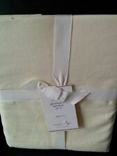"""Pottery Barn pb Essentials 14"""" Drop Bed Skirt Queen Nwt Ivory"""