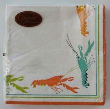 +Caspari Lobster Paper Luncheon Napkins (20 Pack) Orange Salmon Aqua Green 3 Ply