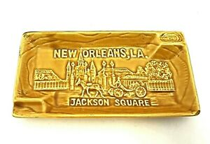 """New Orleans LA Jackson Square Ashtray Vintage Made in Japan 7"""" x 4"""""""