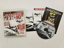 Batman Arkham City Game Of The Year Edition PS3 Manual included