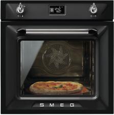 SMEG SF6922NPZE1 Dampfreinigung Heißluftofen Pizzaofen, 60 cm, schwarz Victoria