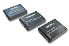 3St. Akku 1.100mAh für CANON Digital Ixus 960IS 970IS 980IS 990IS