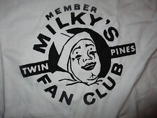TWIN PINES DAIRY MILKY THE CLOWN Fan Club White T Shirt NWOT DETROIT 1960's