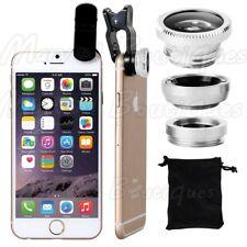 Wide Angle 180° Fish Eye Macro Clip Camera Lens Kit for Smart Phone Silver