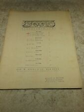 """ANTIQUE 1918 SHEET MUSIC """"PIANOFORTE GEMS"""" BY JOS. W. STERN & CO. - 5 PAGES"""