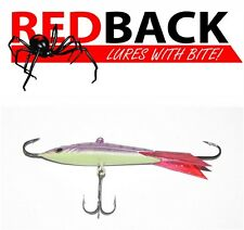 Redback Ice Jigs 21gm /65mm Phaze Purple Redfin Ice-Jig fishing lures
