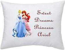 Princesa Ariel & Cenicienta #1 Funda De Almohada Personalizado