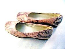 Enzo Angiolini Woman's Heels Black Beige Snakeskin Print - 6 1/2 M