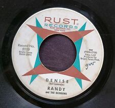 DOO-WOP TEEN 45: RANDY and THE RAINBOWS Denise/Come Back. RUST 5059