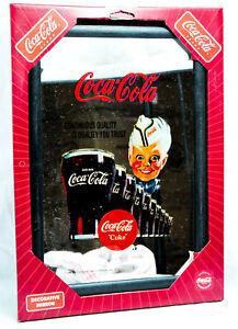 "Coca Cola, Werbespiegel in Kunststoffrahmen schwarz ""Continuous Quality"""