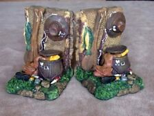 Old West Western Theme Bookends Resin