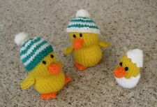 Carefully Hand Knitted Ducklings Chicks