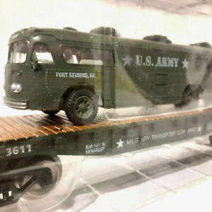 Military O Flatcar - US Army Bus #279-3432 – MINT/RETIRED! (A)