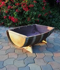 Trough 1/2 long barrel planter/ Handmade