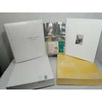 3PC Hallmark Wedding Album Lot -Keepsake Album-Photo Album & 12 Pk Photo Holders