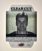 2020-21 UD Series 1 Clear Cut Honoured Members Update #HOF100 Chris Pronger /100
