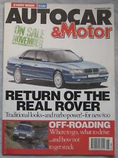 AUTOCAR magazine 6 February 1991 featuring Land Rover, Toyota, Mercedes